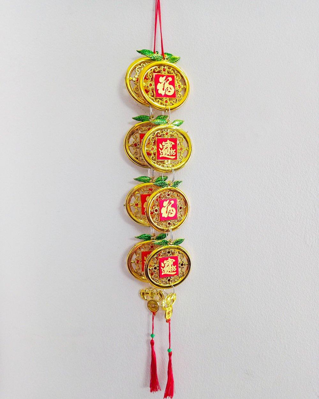 Dây Lộc treo trang trí tết Trái quýt vàng (2 dây)
