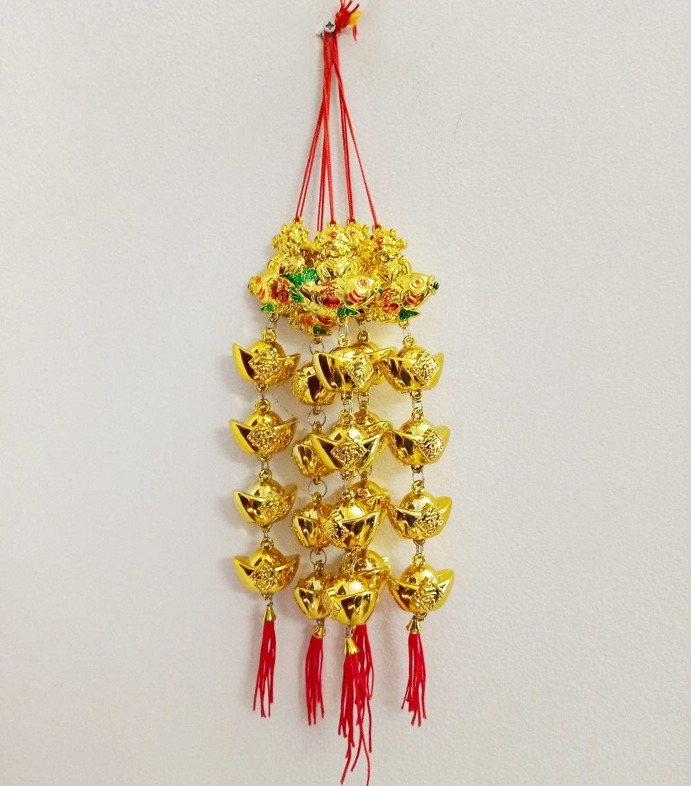 Lộc treo Thần tài cá chép vàng trang trí tết