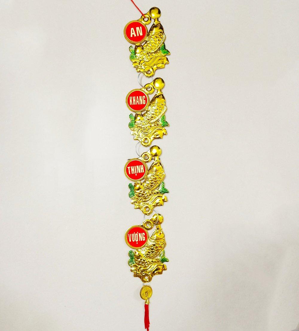 Lộc treo trang trí tết Cá châu vàng 03
