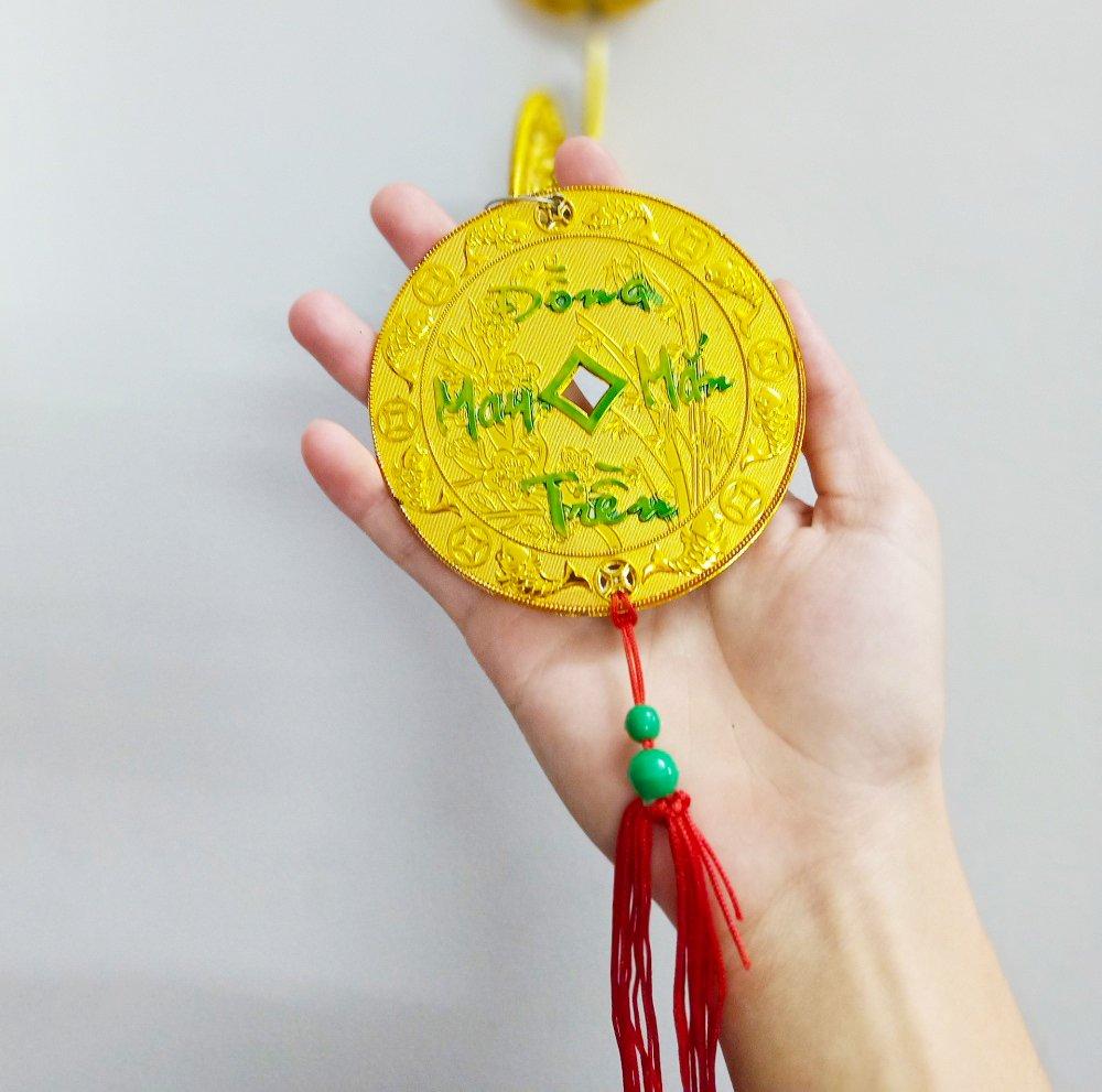 Dây Lộc Treo Đồng Tiền Vàng may mắn Mã đáo thành công