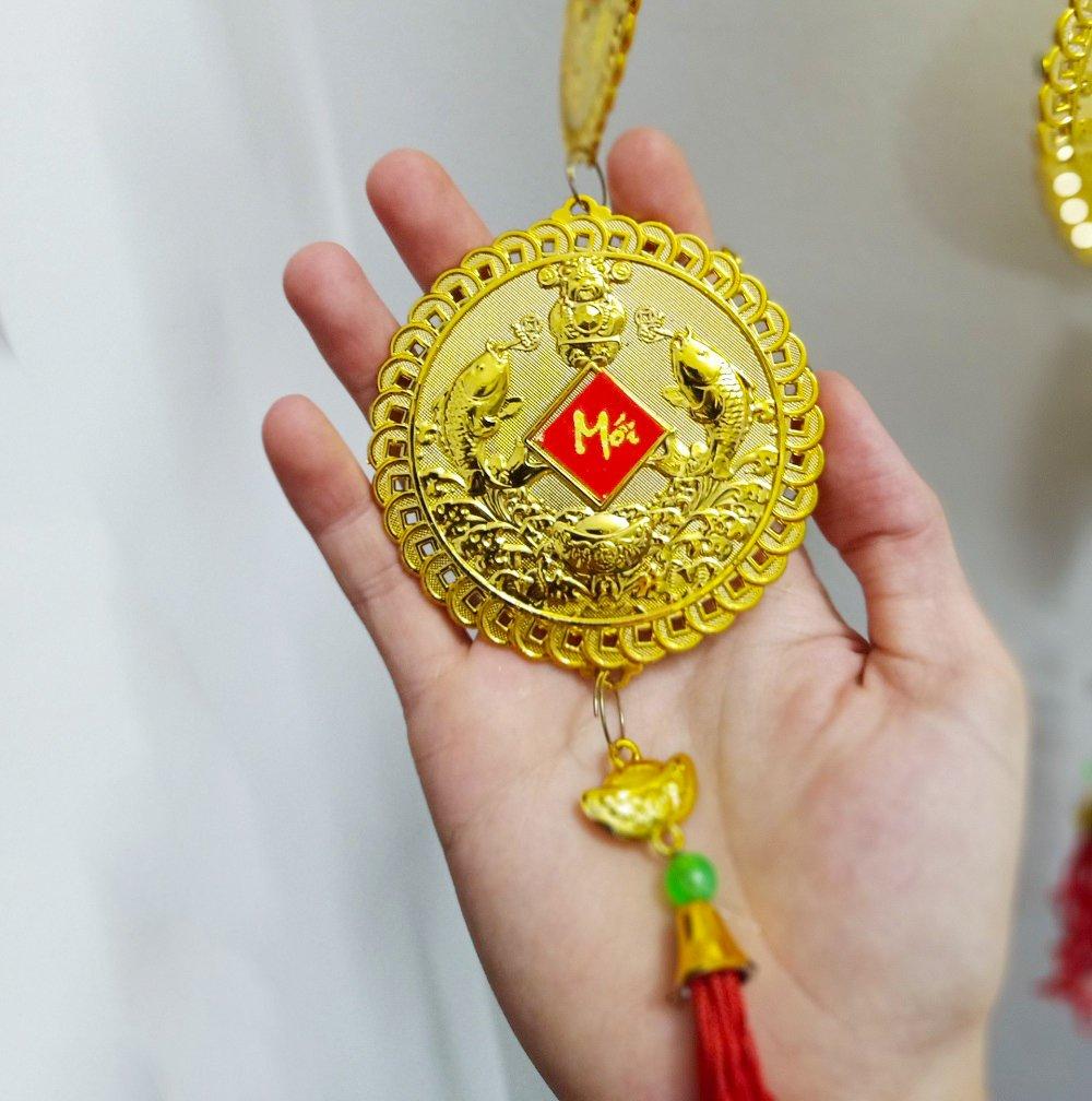 Dây lộc treo Đồng tiền cá vàng 29