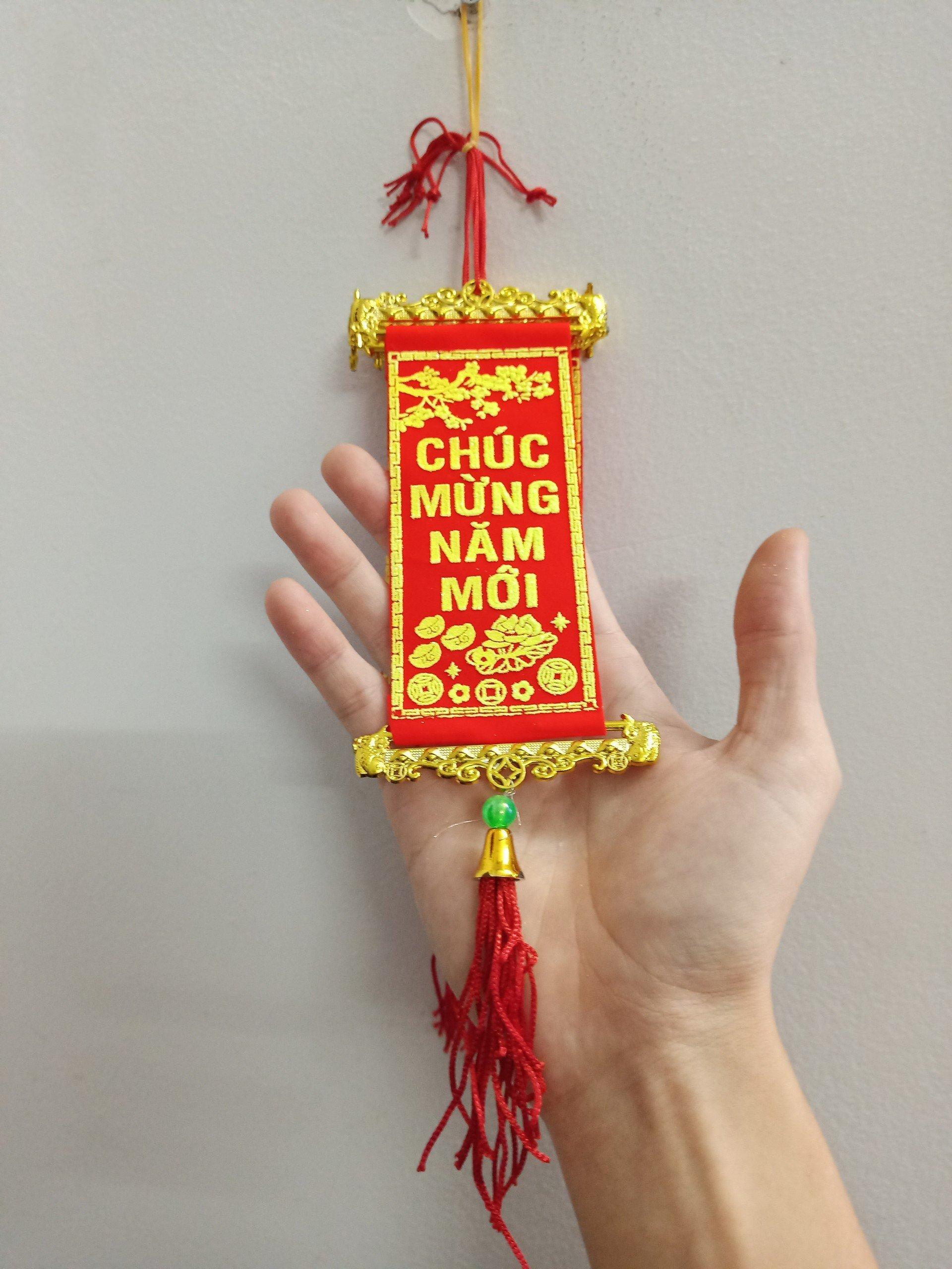 Liễn Mini Hoa Mai Vàng Chúc mừng năm mới