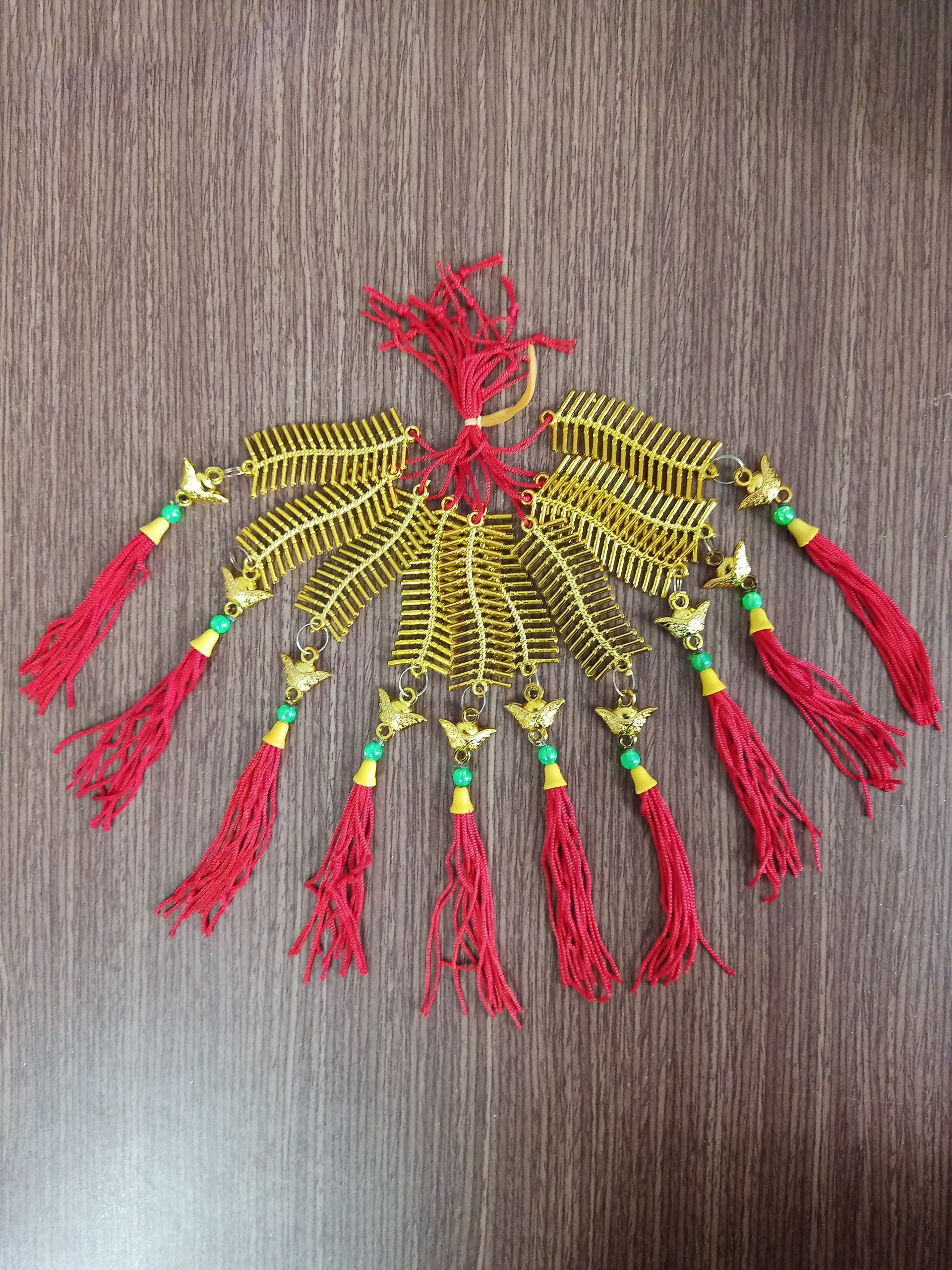 Lộc treo trang trí tết dây pháo vàng mini 61