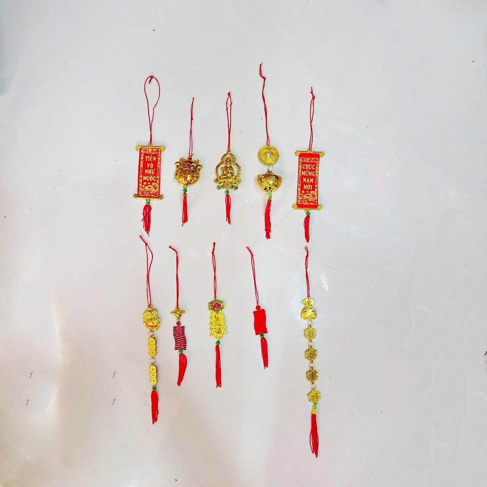 Combo 10 dây treo tài lộc số 1 trang trí tết