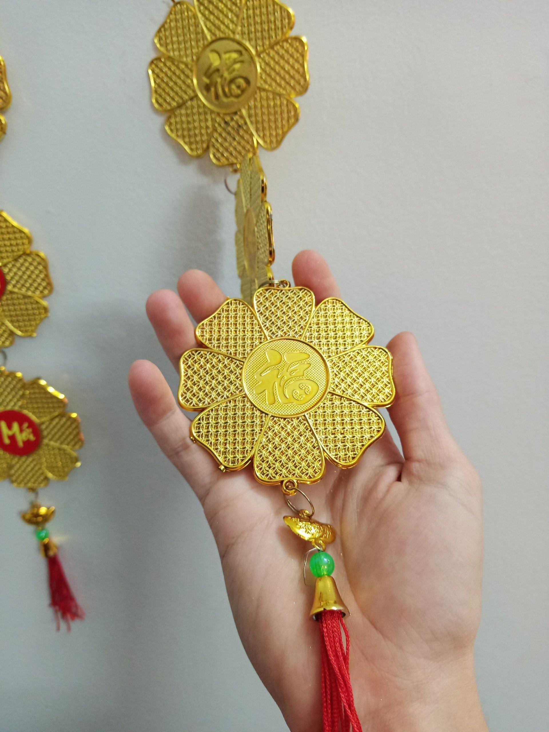 Lộc treo trang trí tết Bông mai đồng tiền vàng 26