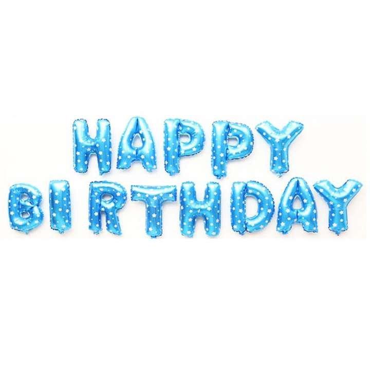 Bóng Chữ Happy Birthday Trang Trí Sinh Nhật Đỏ Họa tiết