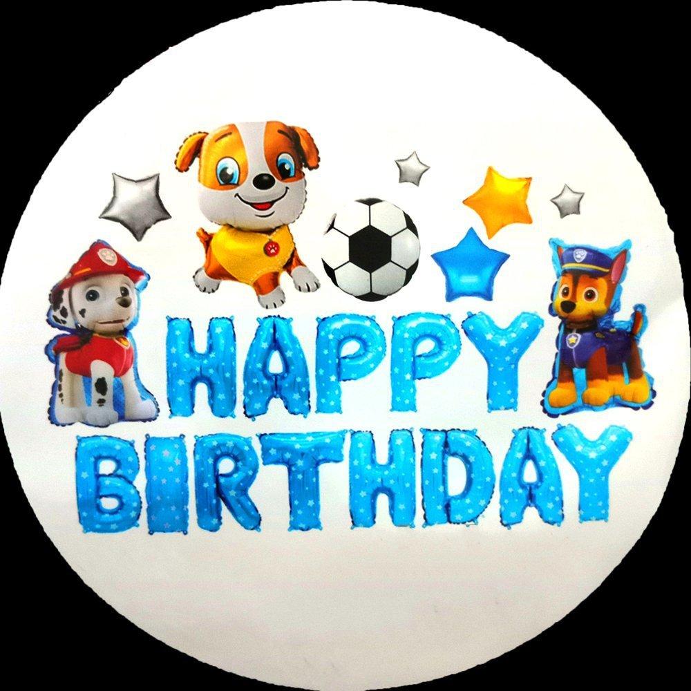 Set Bóng Trang Trí Sinh Nhật Happy Birthday Cún con và đồng bọn