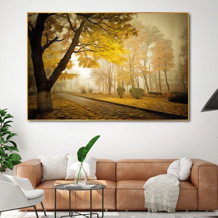 Tranh treo tường phong cảnh mùa thu 2