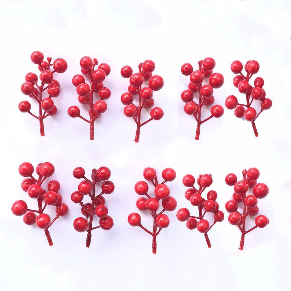 Set 10 cành Cherry đỏ trang trí tết