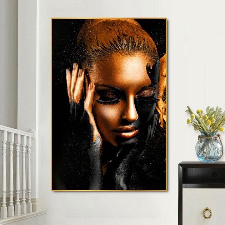 Tranh treo tường cô gái sắc màu