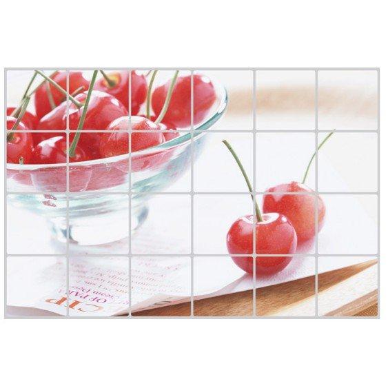 Dán bếp cherry đỏ size 60x90cm