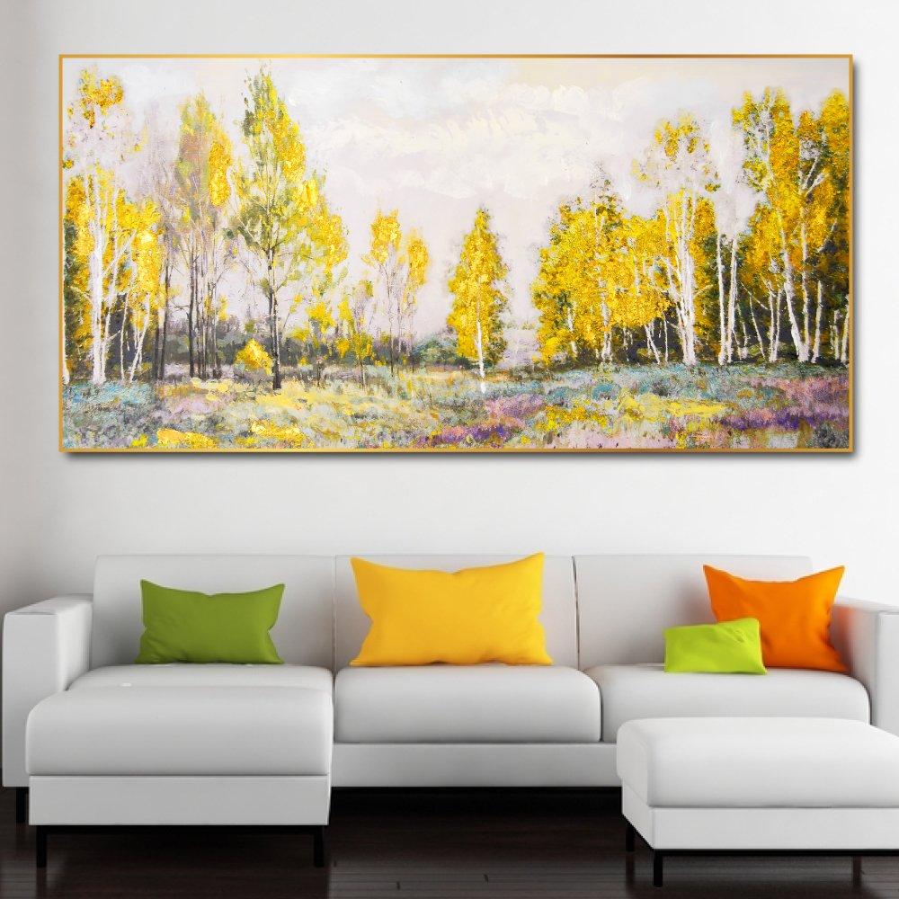 Tranh treo tường cảnh rừng vàng