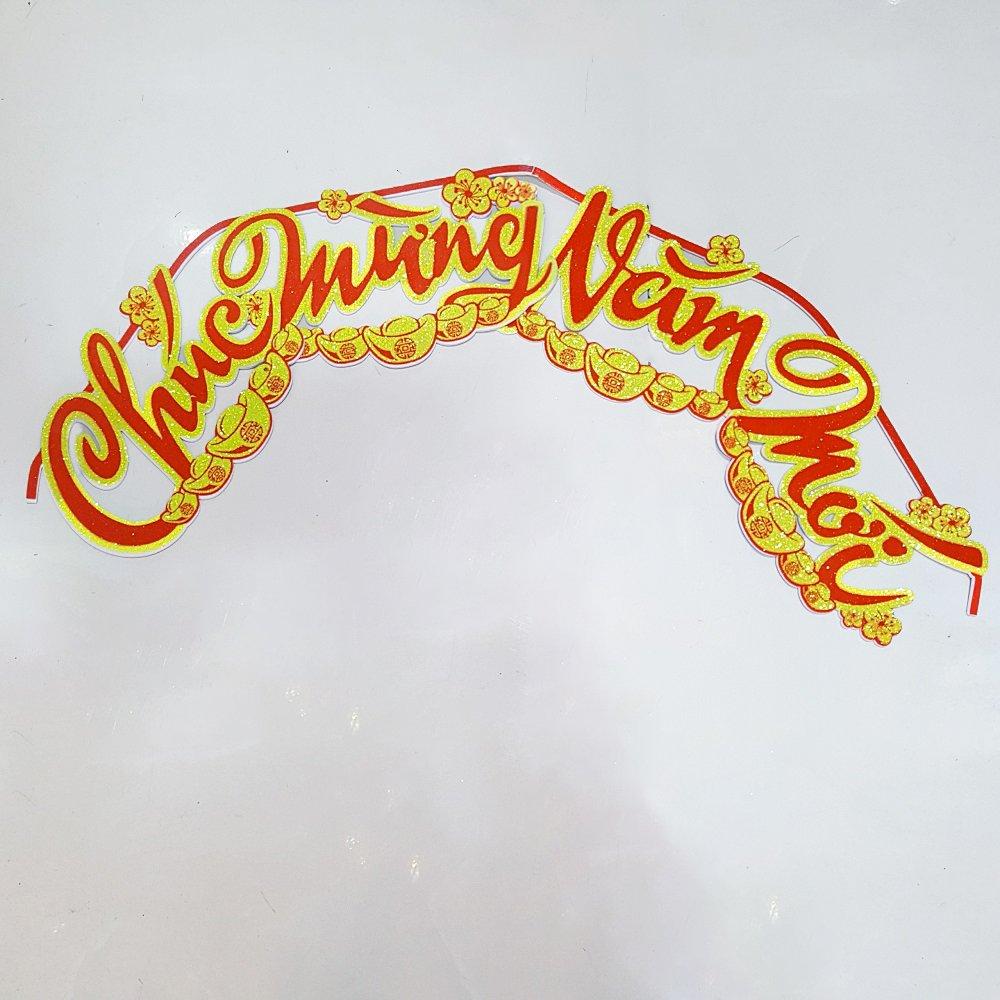 Chữ dán xốp trang trí tết Chúc mừng năm mới