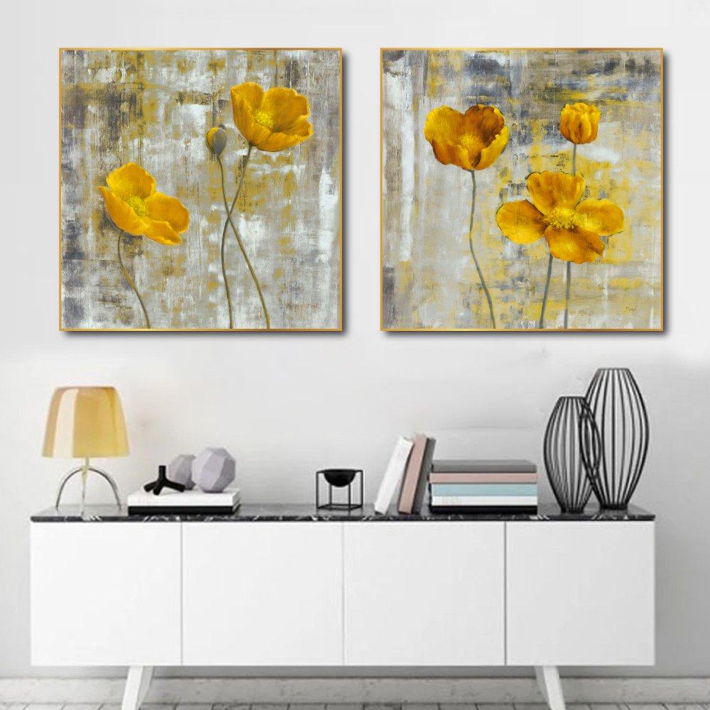 Tranh treo tường những đóa hoa vàng