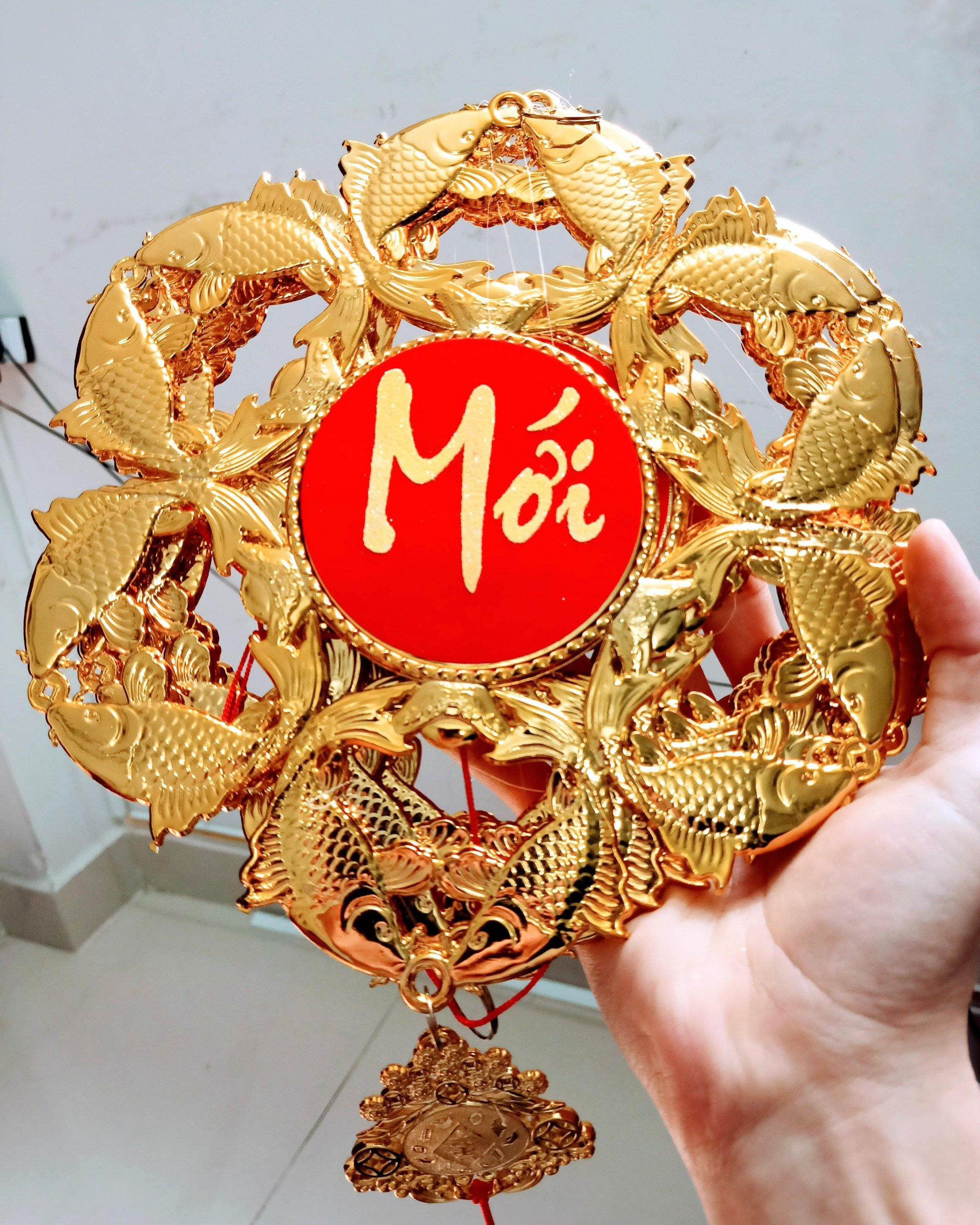 Lộc treo trang trí tết Cá vàng Chúc mừng năm mới - An khang thịnh vượng