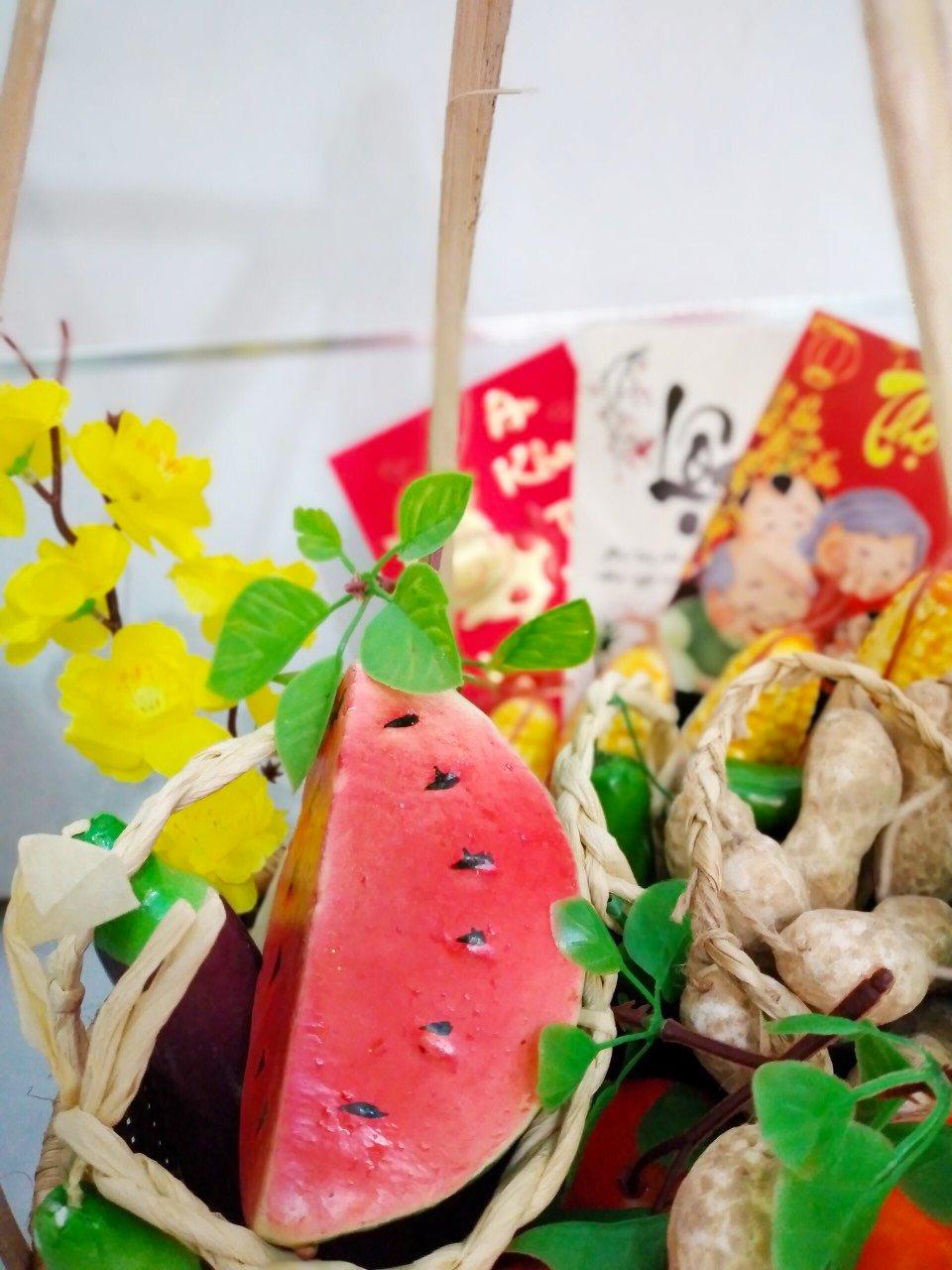 Quang Gánh tre handmade trang trí tết