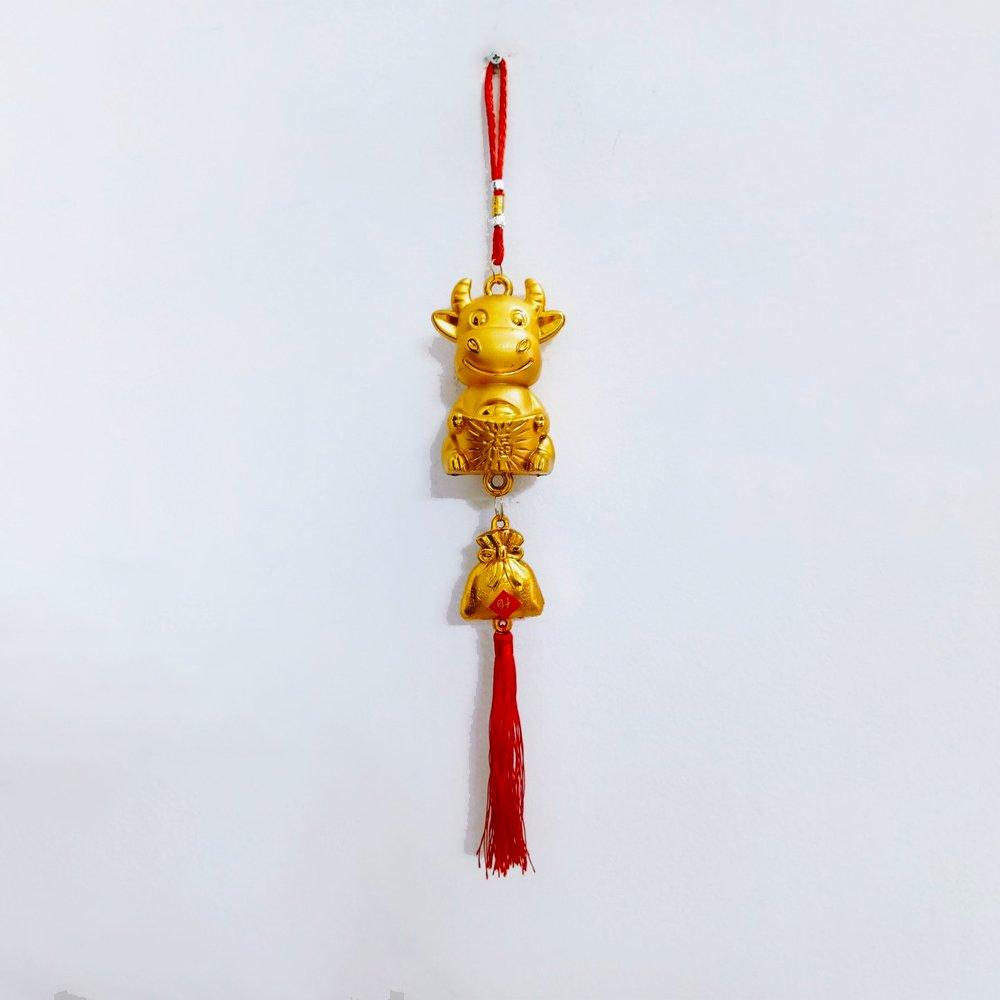 Lộc treo trang trí tết Trâu vàng mừng xuân Tân sửu
