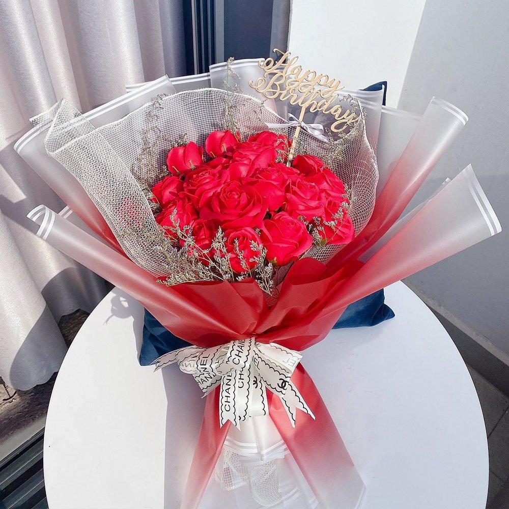 Bó hoa hồng sáp thơm to 2