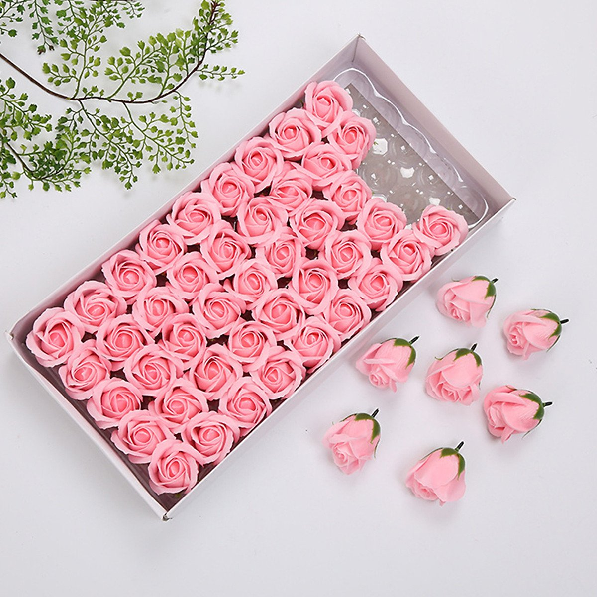 hộp hoa hồng sáp thơm màu hồng