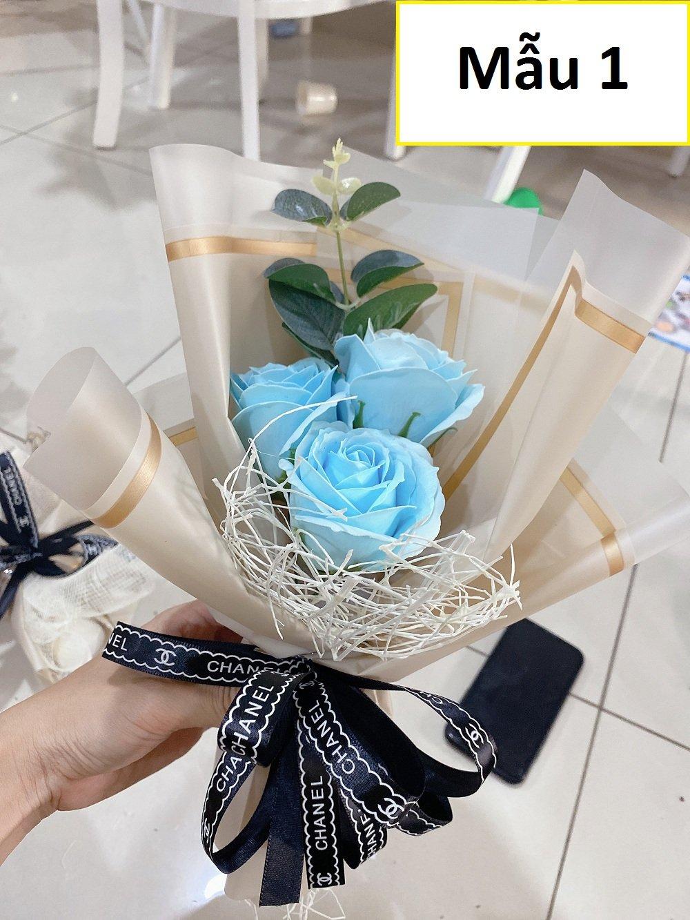 Bó 3 hoa hồng sáp thơm (nhiều mẫu)