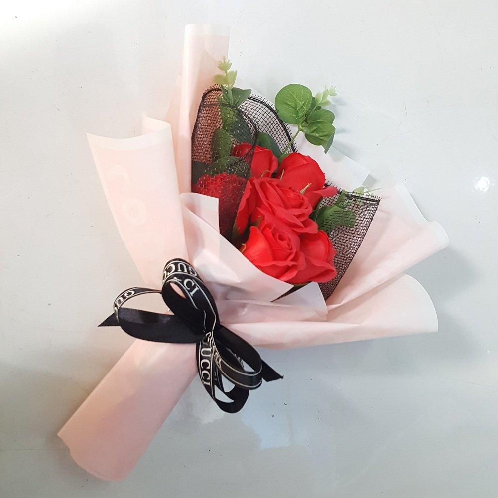 Bó hoa hồng sáp thơm Đỏ - H039