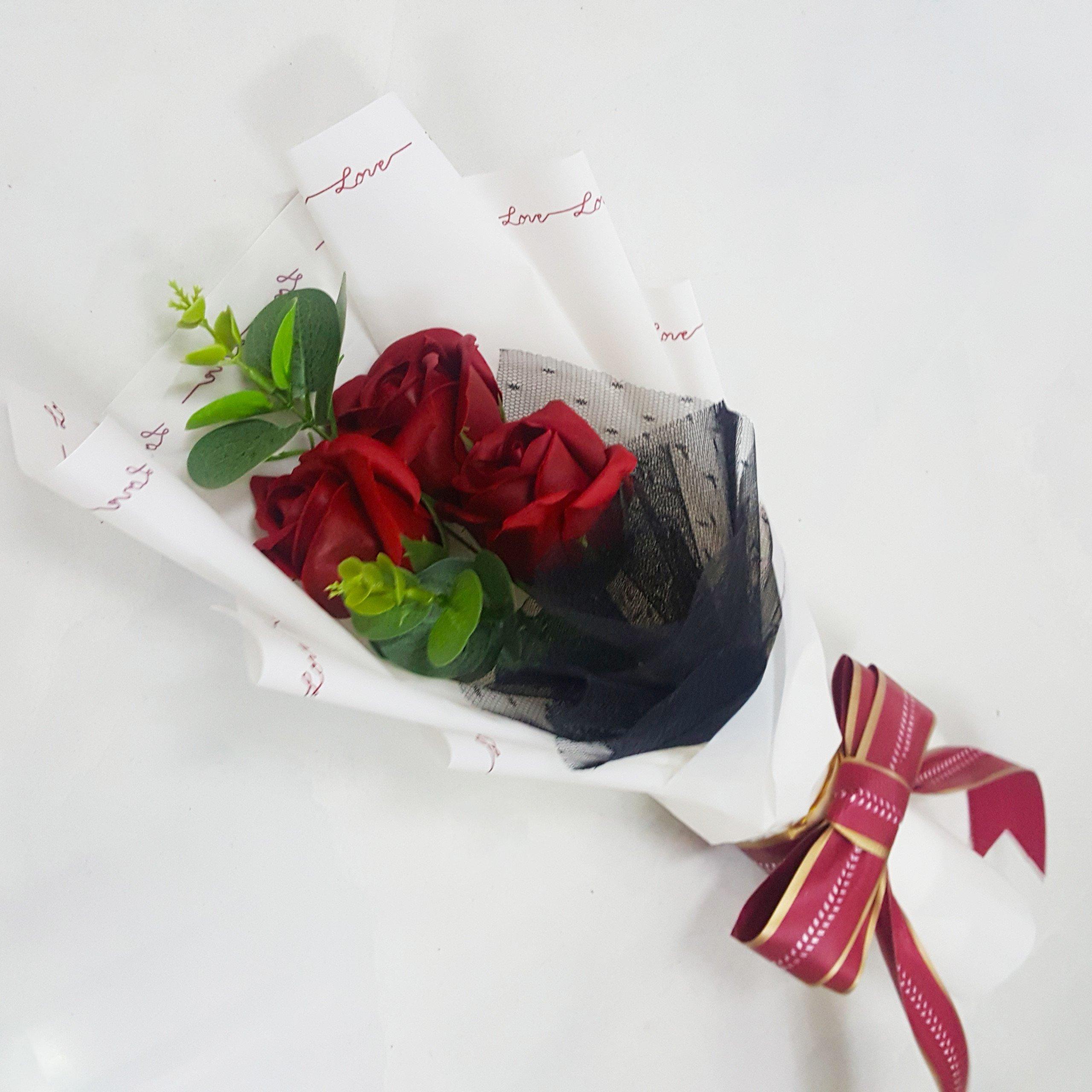 Bó 3 hoa hồng sáp thơm - Tặng kèm thiệp (067)