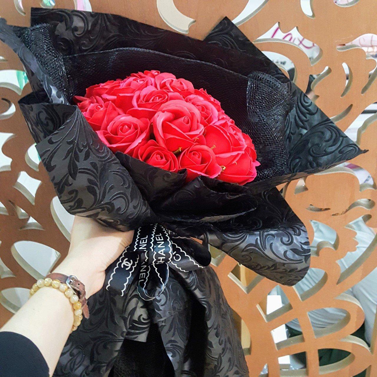 Bó hoa hồng sáp thơm Đỏ - H073