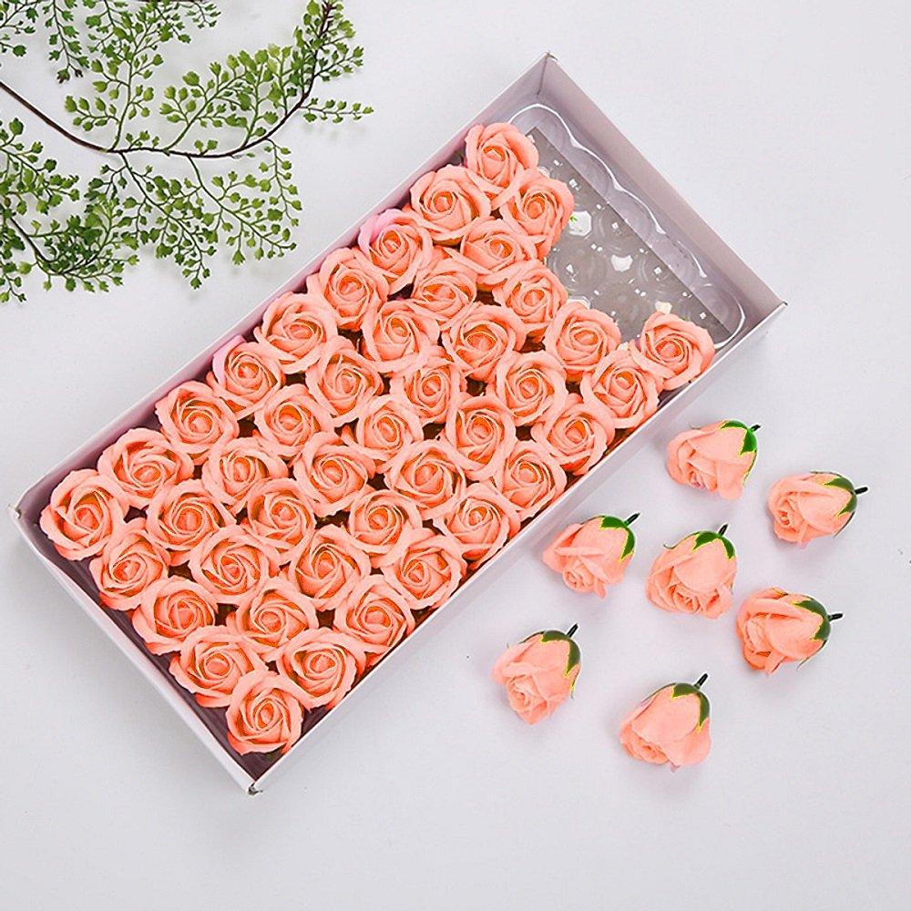 Hộp hoa hồng sáp thơm màu cam nhạt