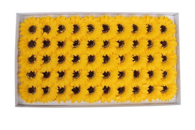 Hộp hoa hướng dương sáp lớn
