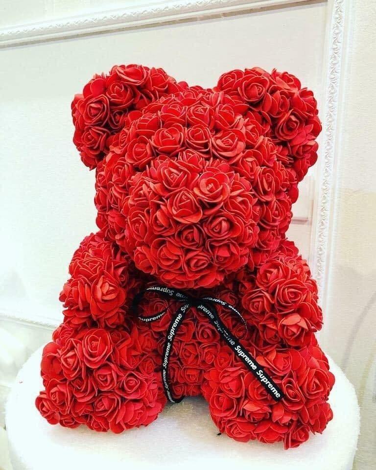 Gấu hoa hồng size 30cm