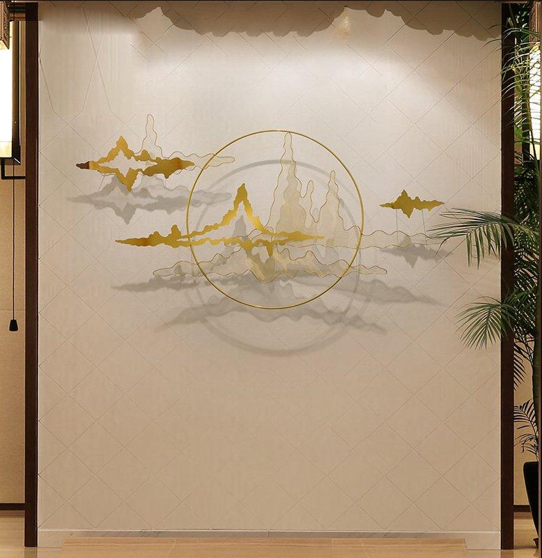 Trang sắt treo tường nghệ thuật trừu tượng