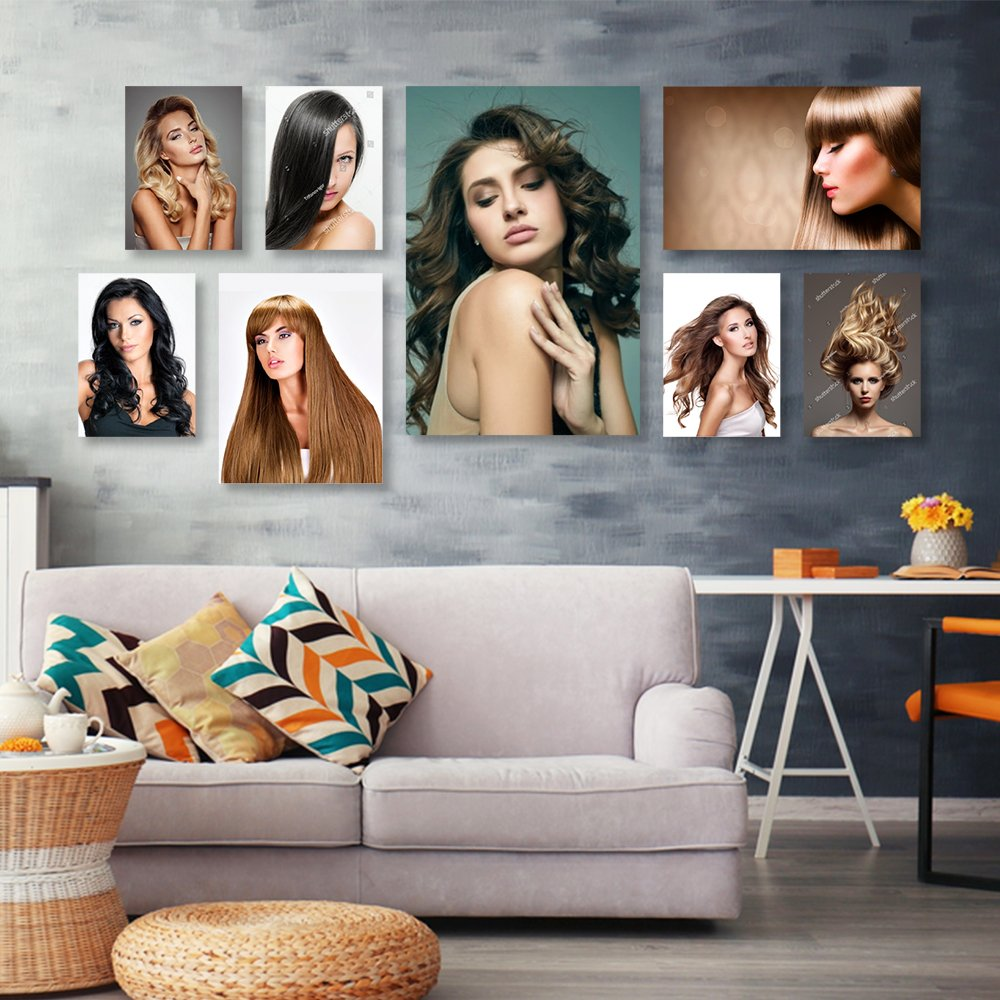 Tranh treo tường tóc nghệ thuật 13