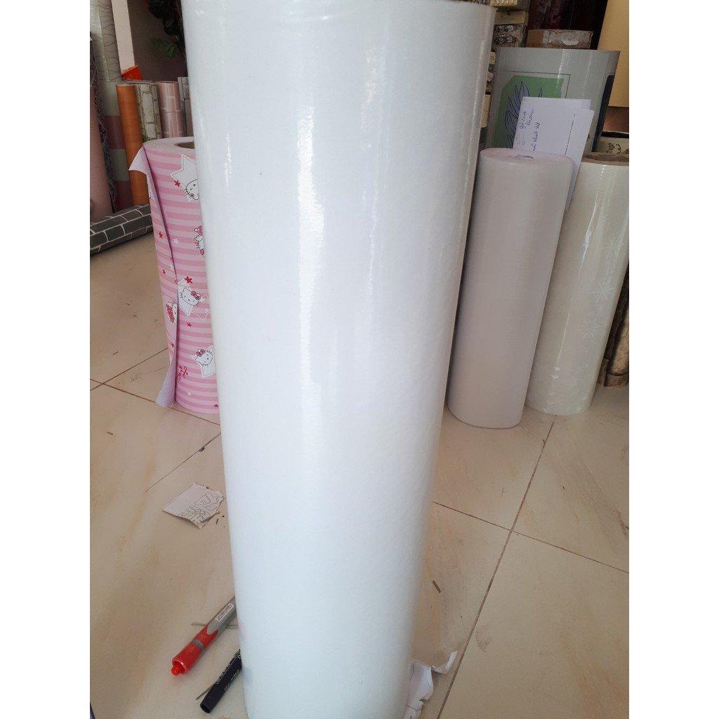 Decal cuộn 1,2m trắng trơn