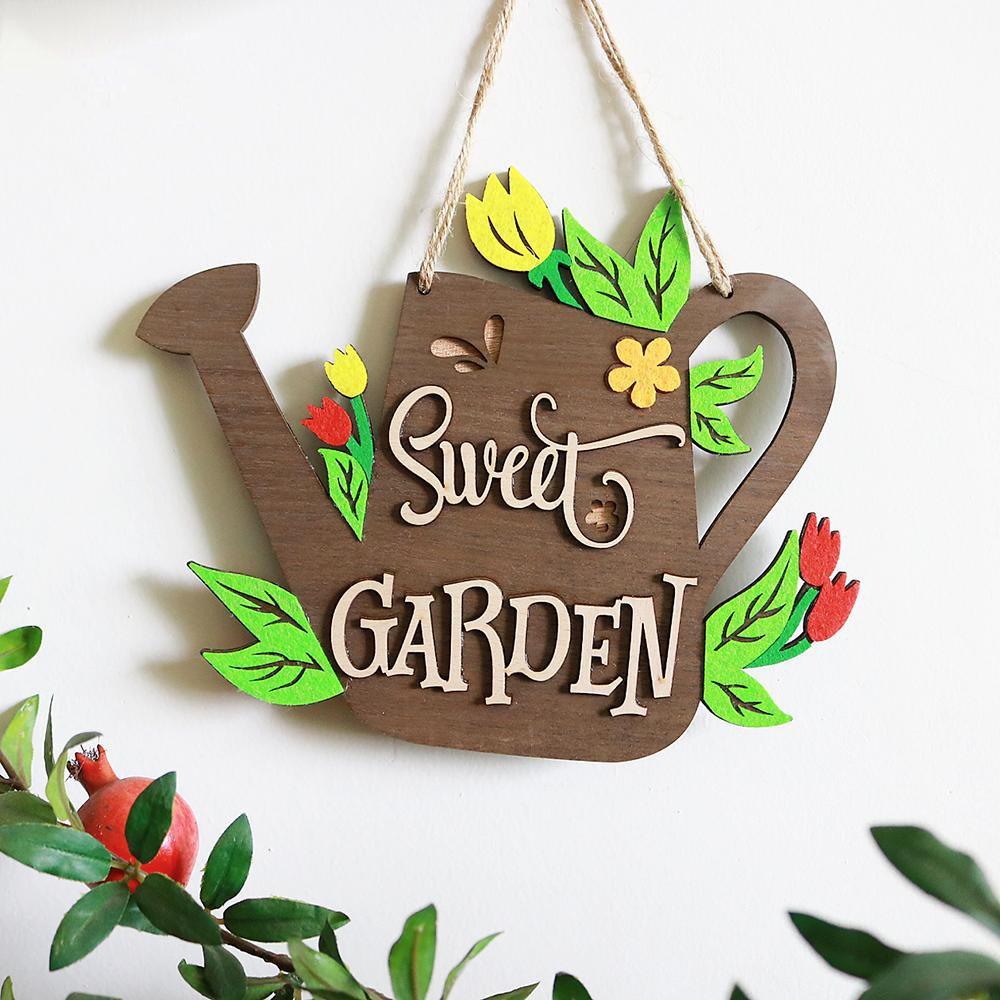 Bảng gỗ handmade trang trí tường Sweet Garden