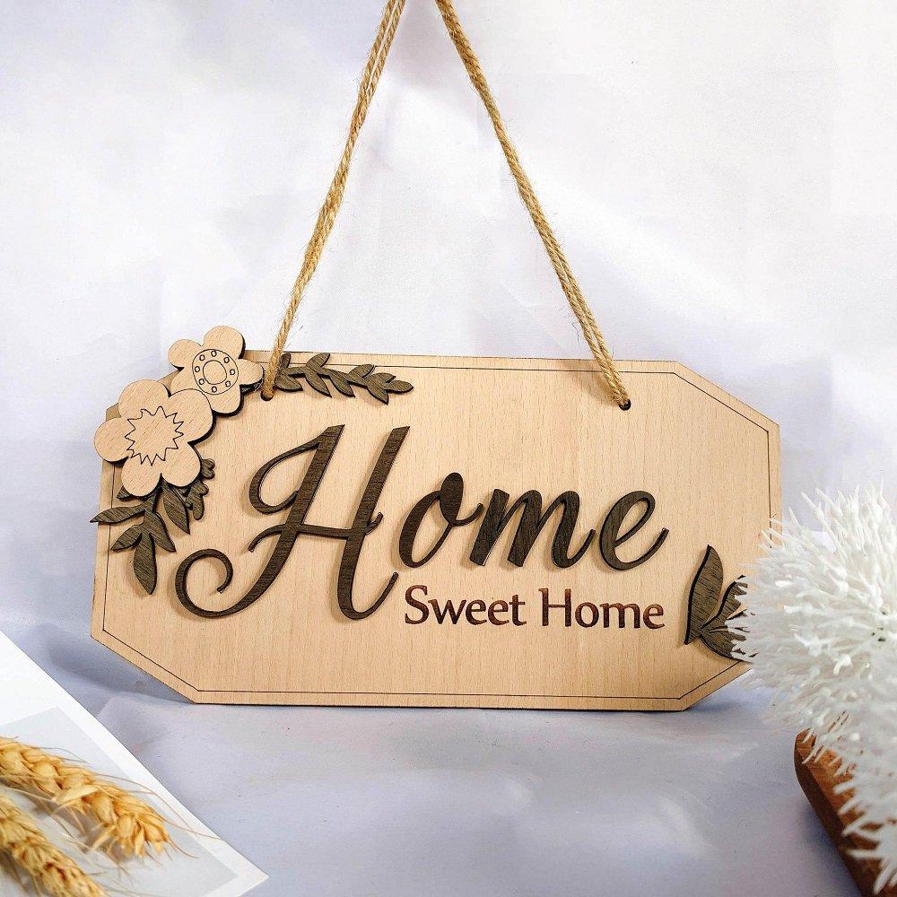 Bảng gỗ handmade treo tường trang trí nhà Home Sweet home mẫu 9