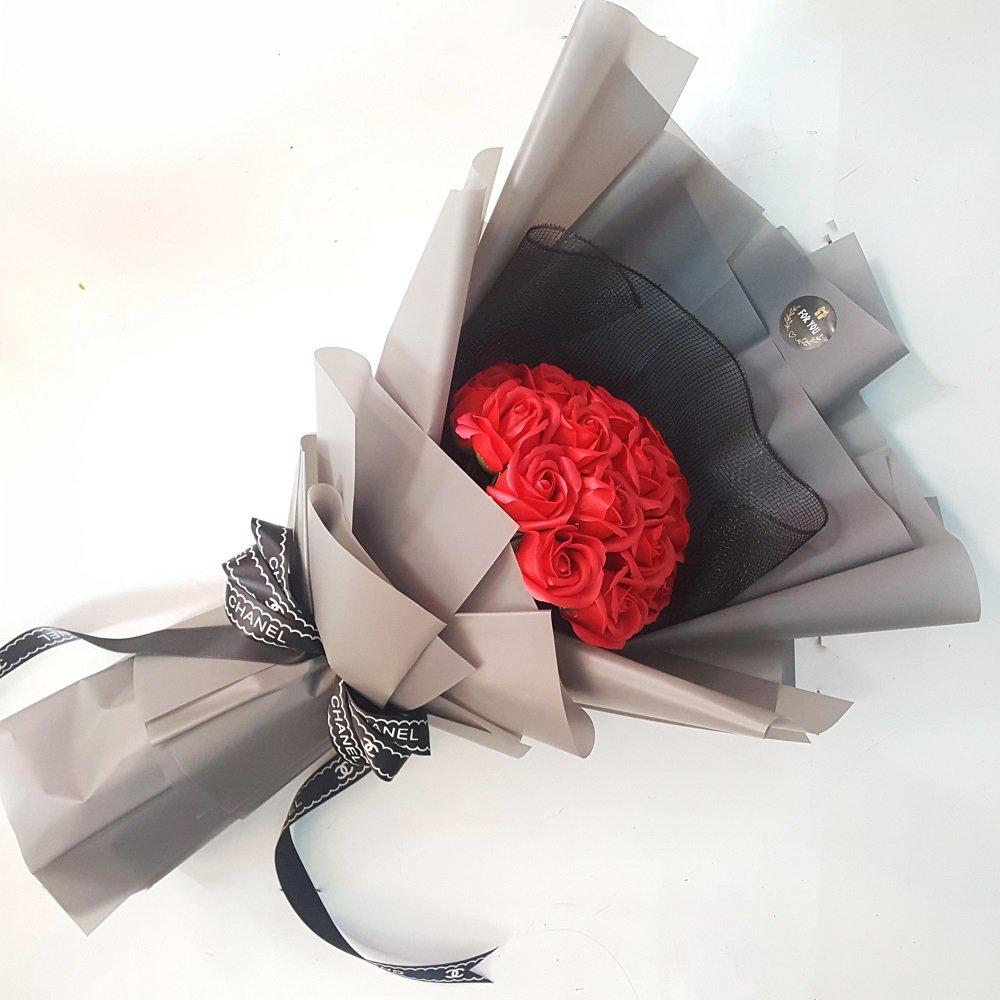 Bó hoa hồng sáp thơm đỏ 2