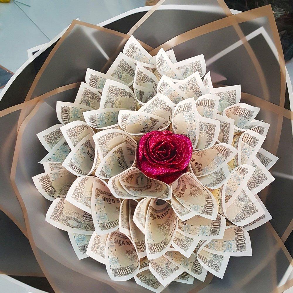 Bó hoa sáp đồng tiền 2