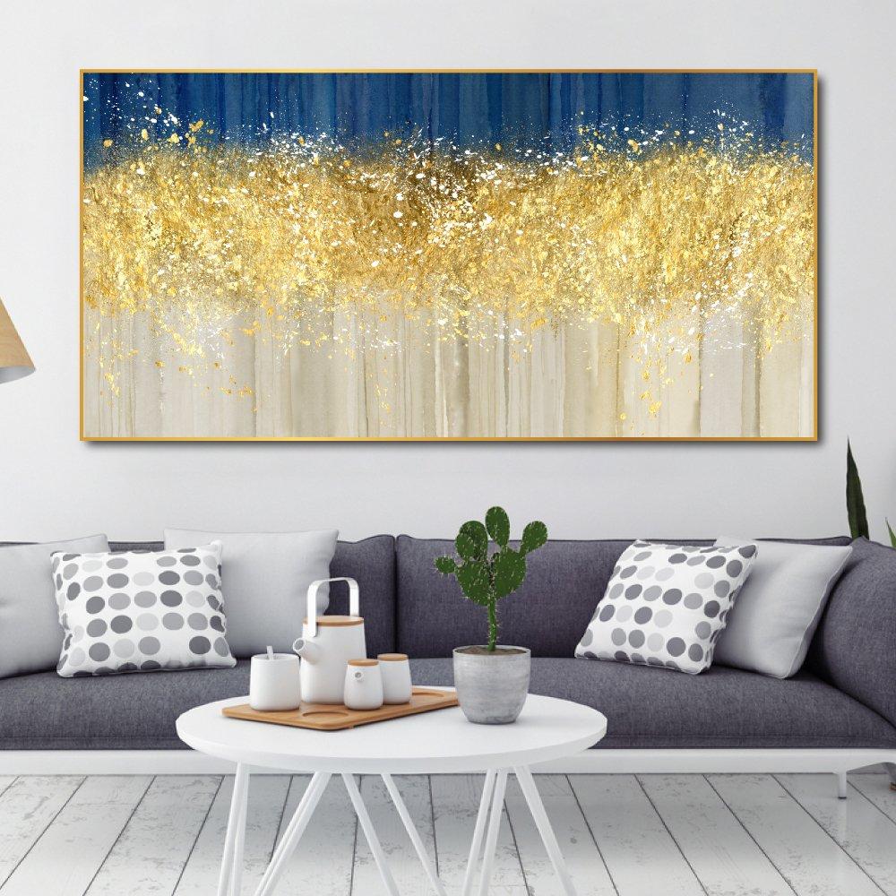 Tranh treo tường màu vàng nghệ thuật