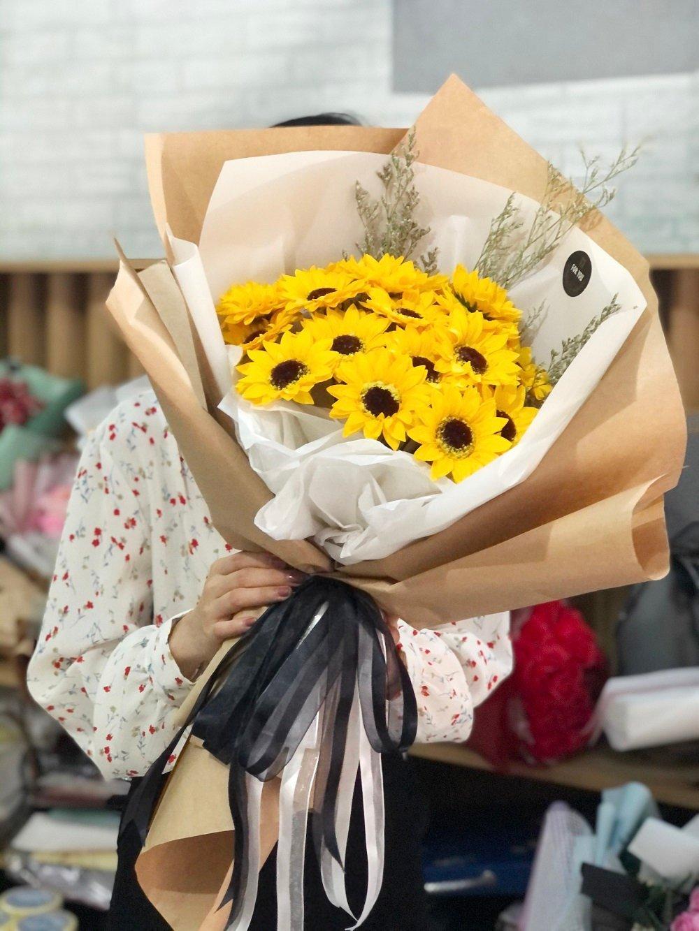 Bó hoa hướng dương sáp thơm