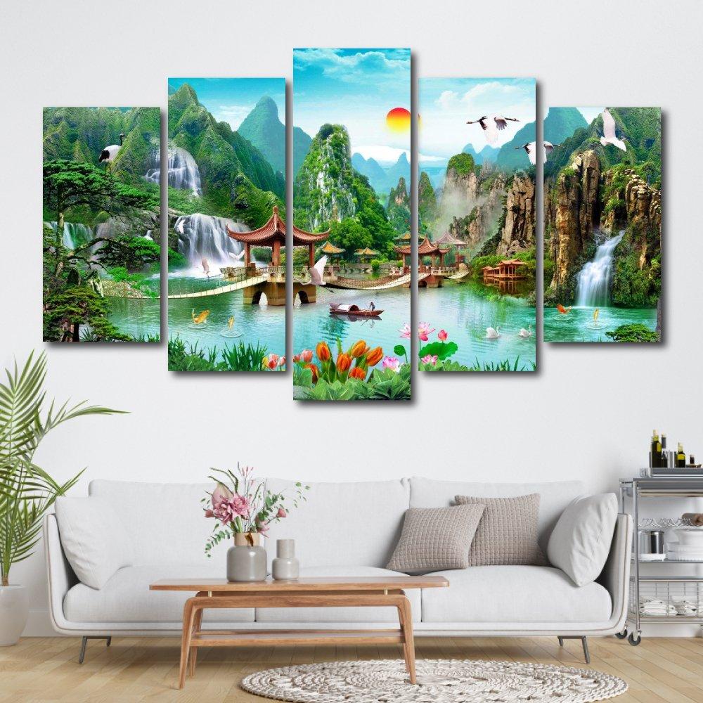 Tranh treo tường phong cảnh thiên nhiên hữu tình 3