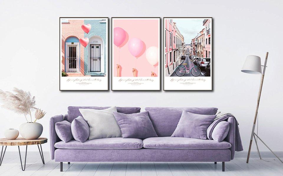 Tranh treo tường phòng ngủ giúp tô điểm cho không gian thêm lãng mạn, sinh động hơn, hiện đại hơn và tăng vượng khí cho gia chủ