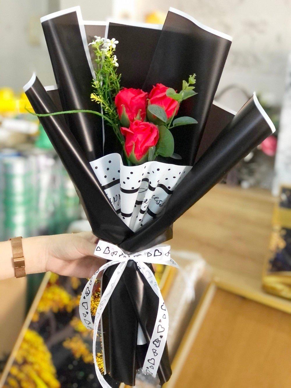 Bó 3 hoa hồng sáp thơm - Tặng kèm thiệp (065)