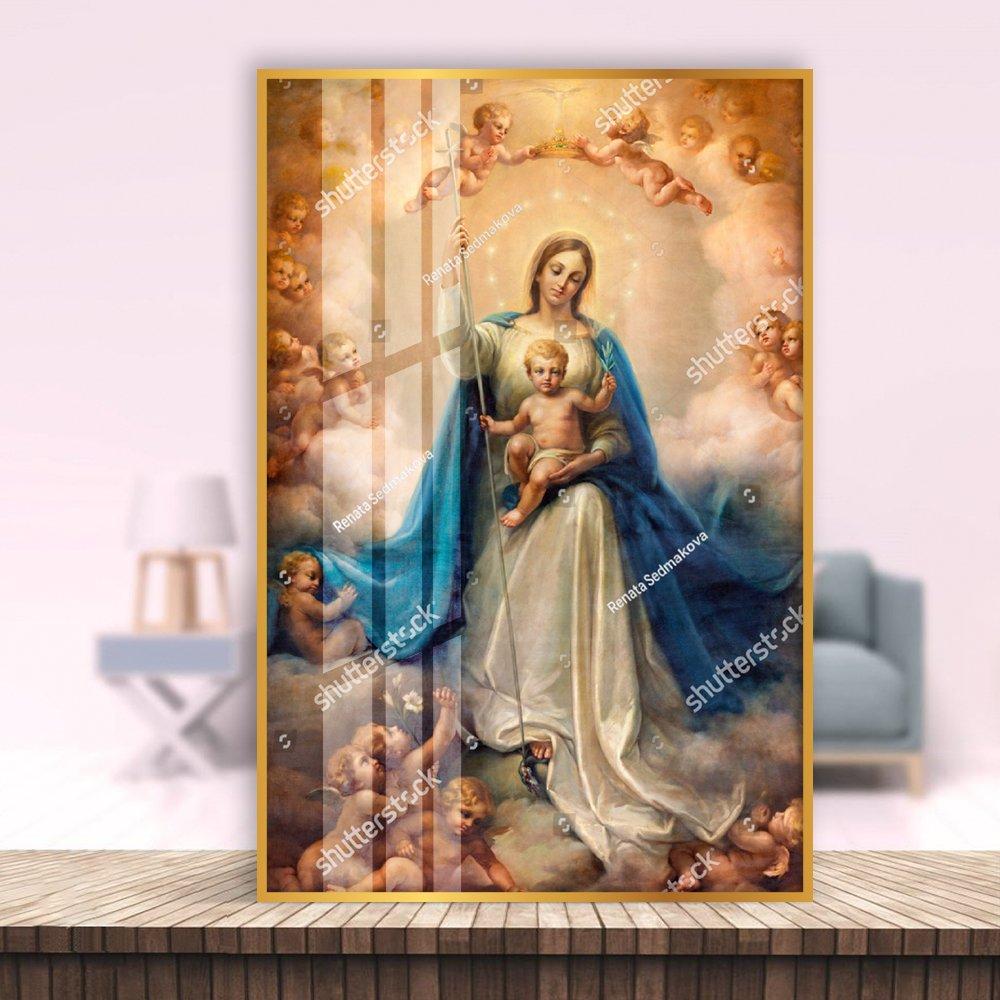 Tranh Treo Tường Đức Mẹ Maria Và Những Thiên Thần