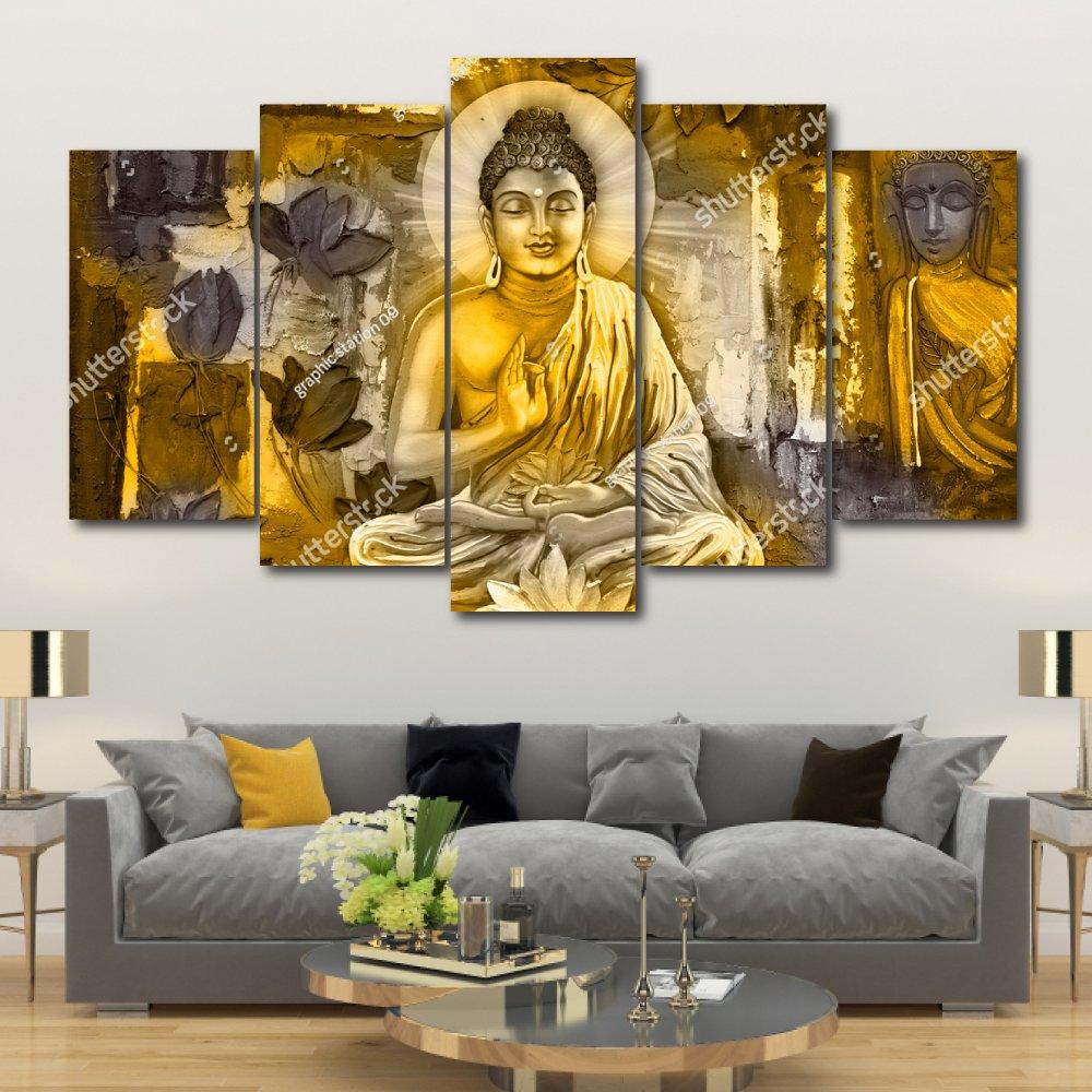 Bộ tranh treo tường 3d Đức Phật 3