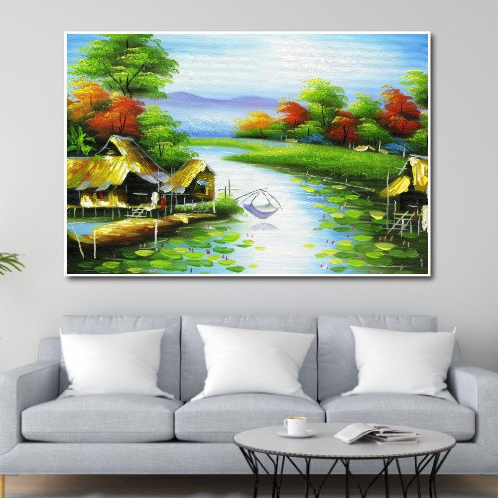 Tranh Treo Tường Dòng Sông Quê Hương 4