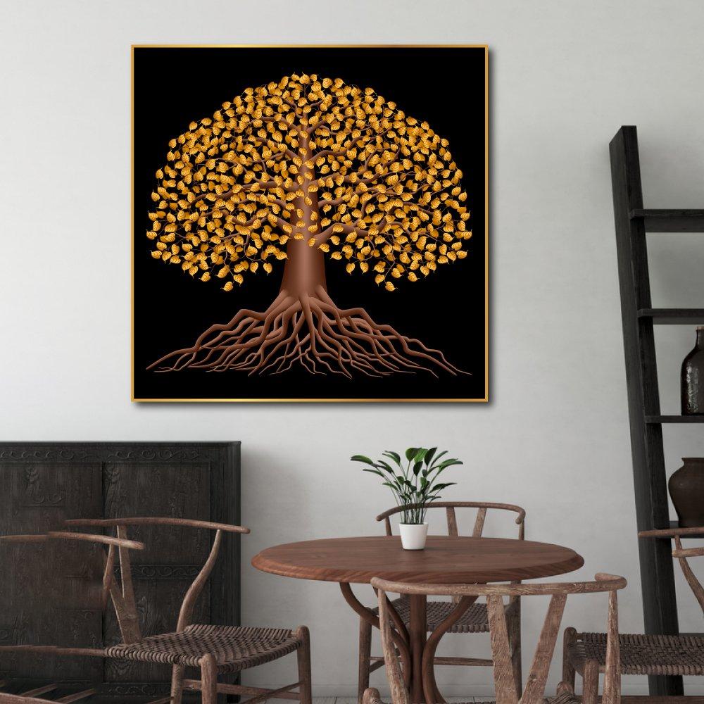 Tranh treo tường nghệ thuật Cây Lá Vàng 2