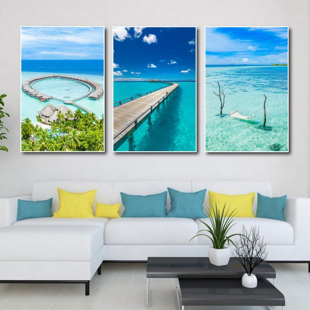 Tranh treo tường cảnh biển maldives 2