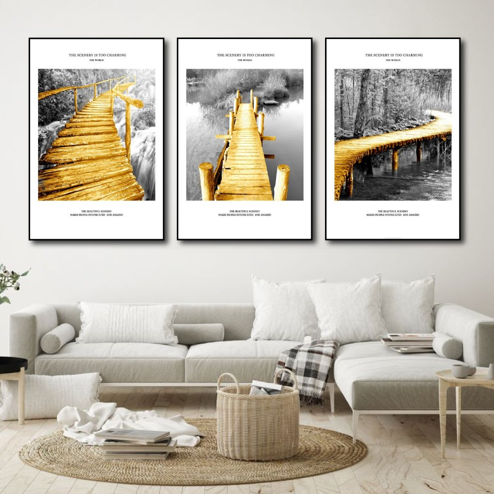 Tranh Treo Tường Cây Cầu Vàng Nghệ Thuật