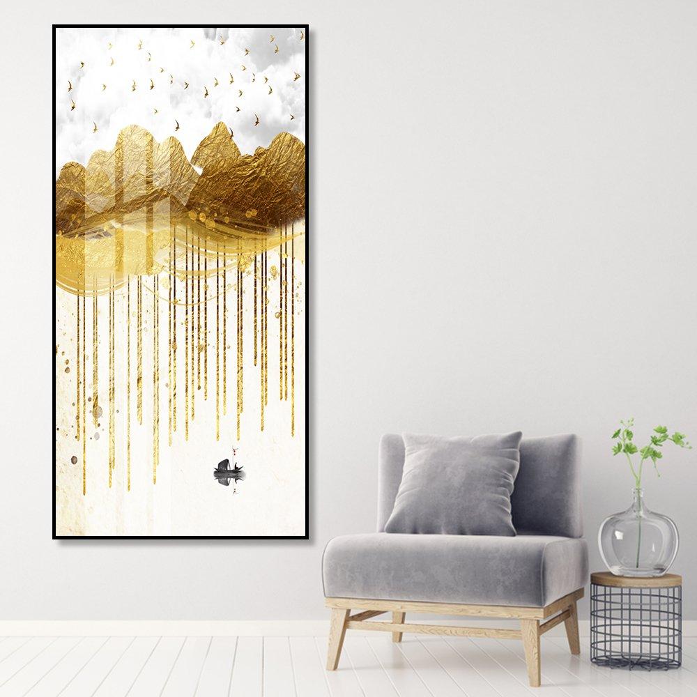 Tranh treo tường núi vàng nghệ thuật
