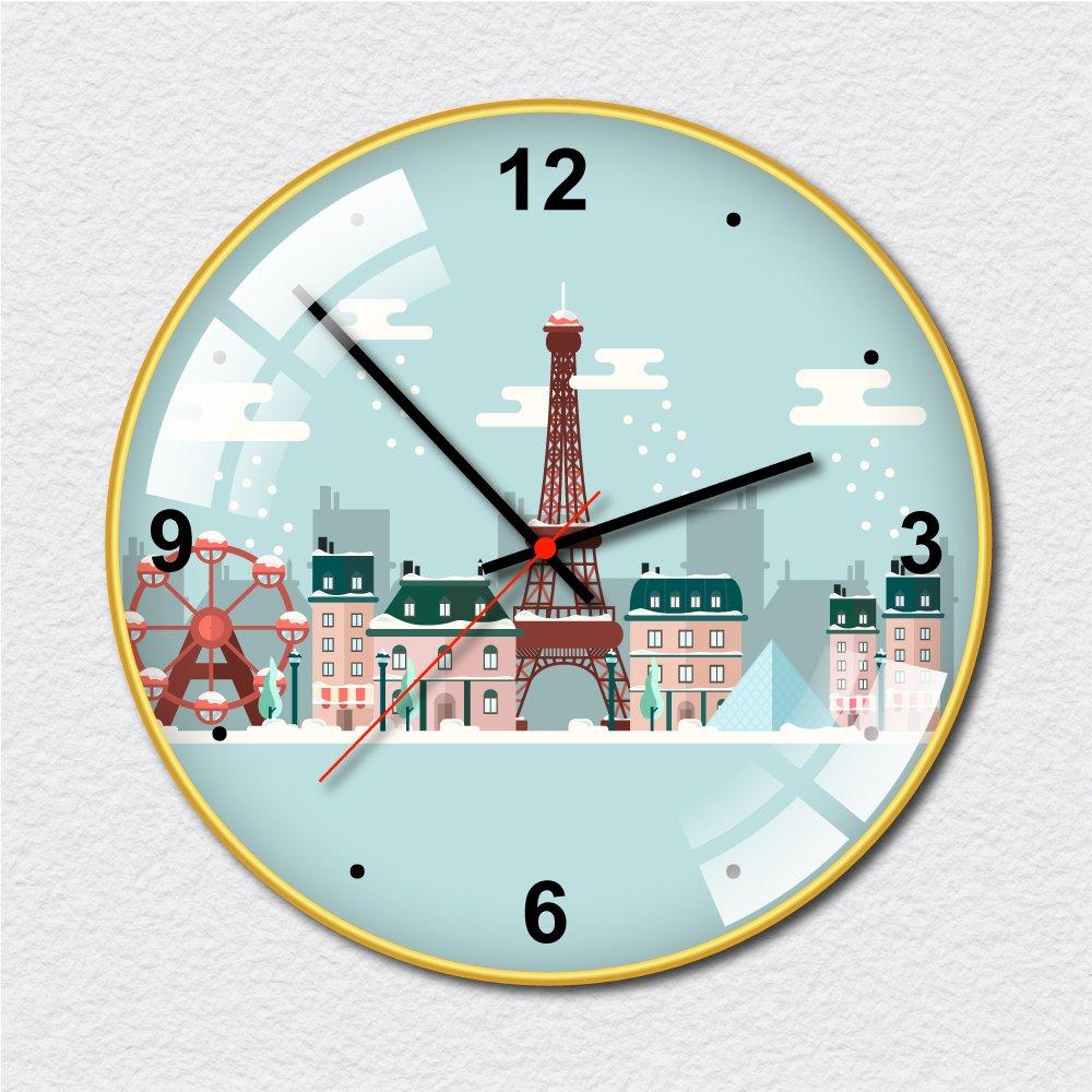 Đồng hồ vintage thành phố tuyết